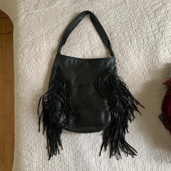 88b9ca44d5d Zara Bags | Leather Fringe Hobo Bag | Poshmark